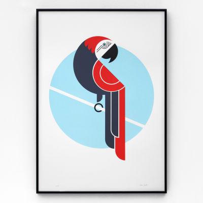 Parrot A2 Screen Print