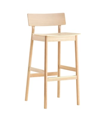 Pause bar stool White pigmented lacquer oak