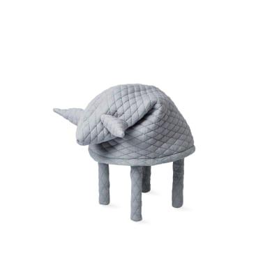 Petstool Fin Light Grey