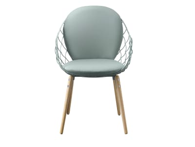 Piña Armchair Steelcut 2 190 Fabric with Natural Base