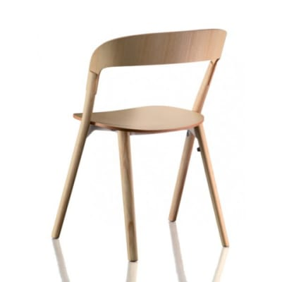 Pila Stacking Chair  - Set of 2 Natural Ash