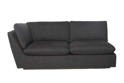 Pillowtalk 2 Seater 1 Arm Sofa Dark Grey