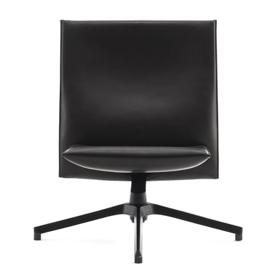 Pilot Chair Low Back Lucca Puccini LC2407, Slim Version, With Chrome Arms, Bright Base