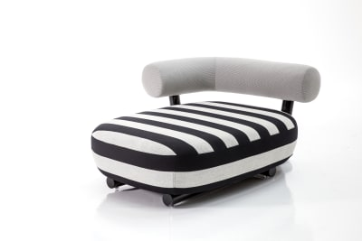 Pipe Chaise Lounge B0211 - Leather Oil cirè, Chrome, Right