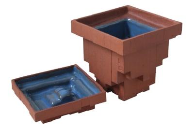 Pixel Pinch Pots Terracotta