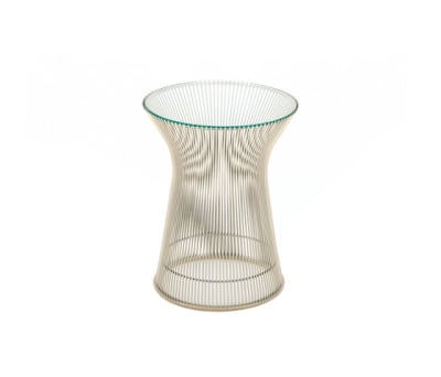 Platner Side Table 18k Gold Plated, Marble Verde Alpi
