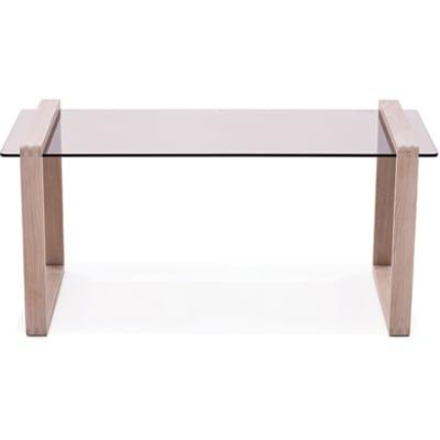 Ponte long side table Amber smoked glass