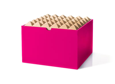 Pyramid Boxes Extra Large Neon Pink