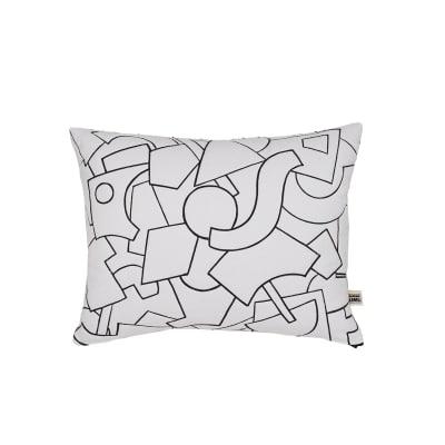 Radium Quilted Black Cushion