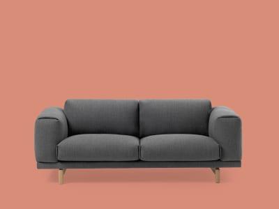 Rest 2 Seater Sofa Steetcut Trio 133, Oak