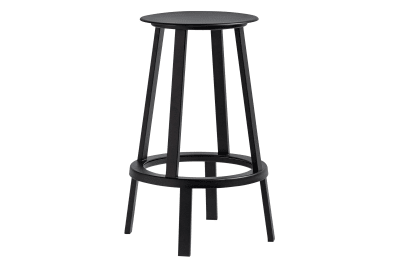 Revolver Stool Black, Low