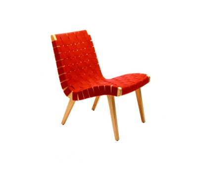 Risom Lounge Chair Black Webbing