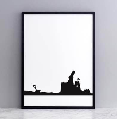 Seaside Rabbit Screen Print Large