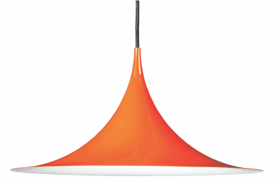 Semi Pendant Light Gubi Metal Orange Glossy, Ø47