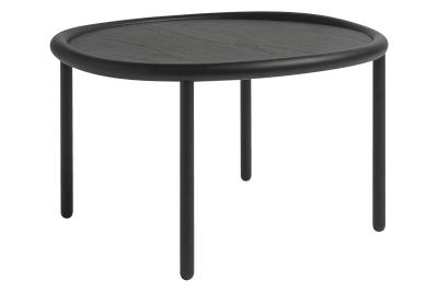 Serve Side Table Black Top, Black Legs, Large