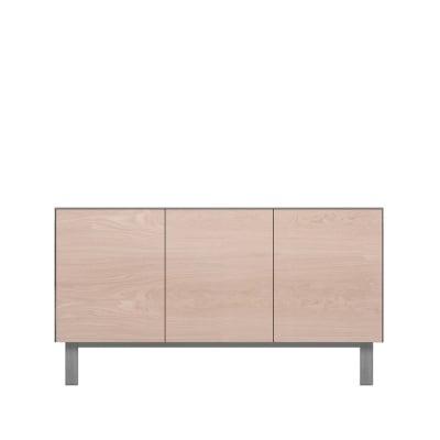 Sideboard 3 Doors Oak, Light Grey