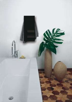 Slim & Shelves Towel Warmer Black