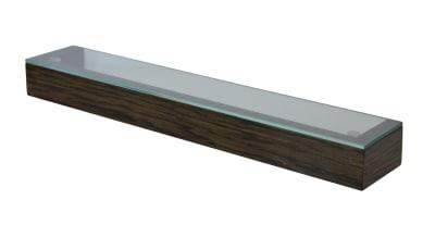 Slimline Shelf with Glass Top Dark Oak