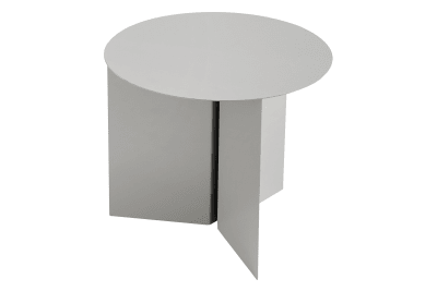 Slit Round Side Table Grey, Ø45 cm