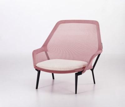 Slow Chair Brown, Base polished, 05 Felt glides for hard floor