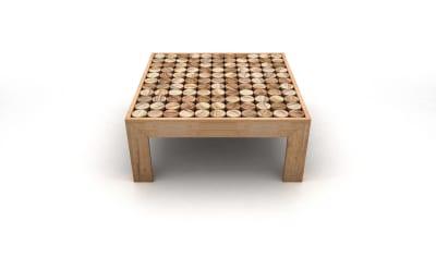 Sofia Coffee Table Wood feet small