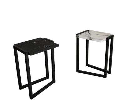 Splay Side Table Black/White