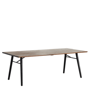 Split dining table Smoked oak/black