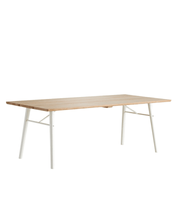 Split dining table Soap/white