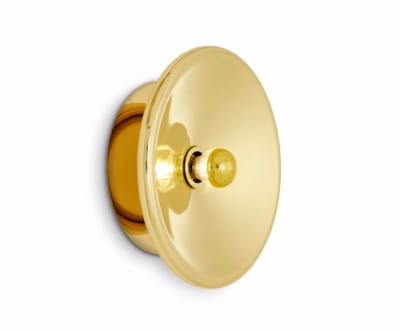 Spun Wall Light Brass