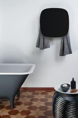 Square Towel Warmer Black