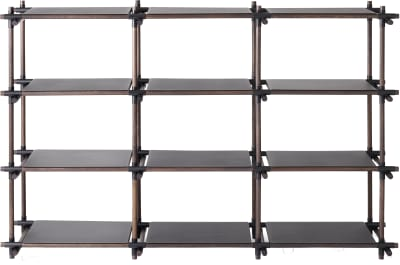 Stick System Shelving, 3x4 Grey