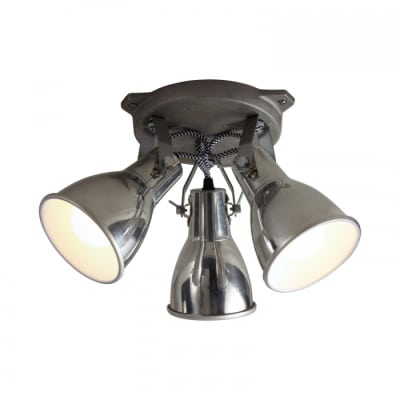 Stirrup Triple Ceiling Light Aluminium