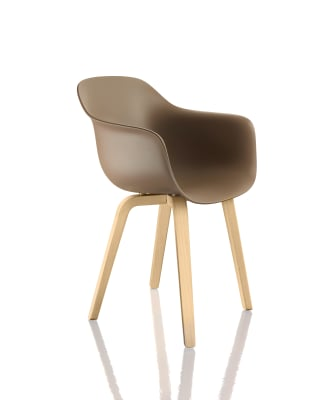 Substance Armchair Black Frame and Seat, Steel Tube Chromed Material