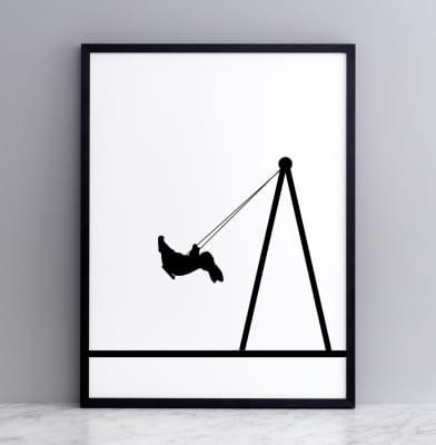 Swing Rabbit Screen Print Large