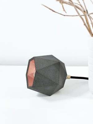 [T2] Up Floor Light Triangle Dark Grey Concrete, Copper Plating