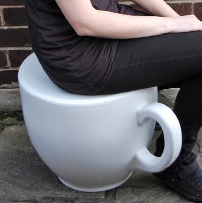 Tea Cup Stool White