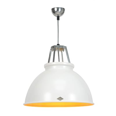 Titan Size 3 Pendant Light White with Gold Interior