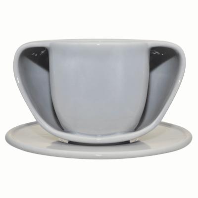 ToastyMUG with Saucer Grey
