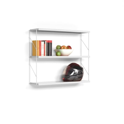 Tria Pack Wall Shelving System White