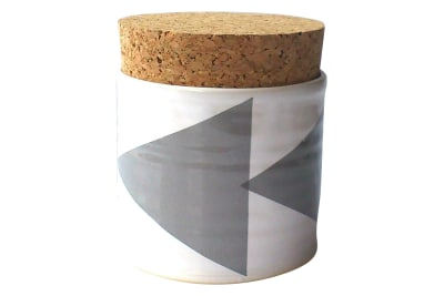 Triangles Sugar Jar  Grey
