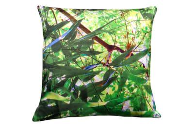 Tropical Multi Leaf Print Square Cushion Large