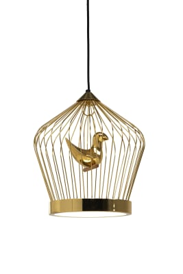 Twee T. Lamp Small 24 carat gold painted metal