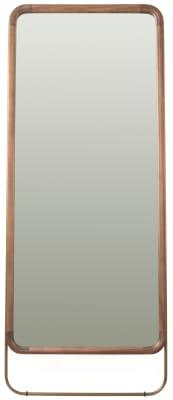 Utility Rectangular Mirror Walnut, Large