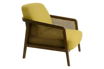Vienna Lounge Chair Canaletto Walnut, Yellow