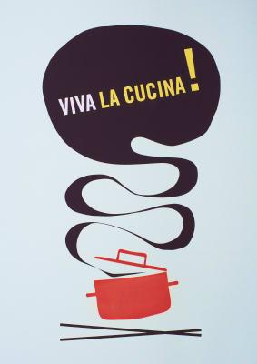 Viva la Cucina Litographic Print Without Frame