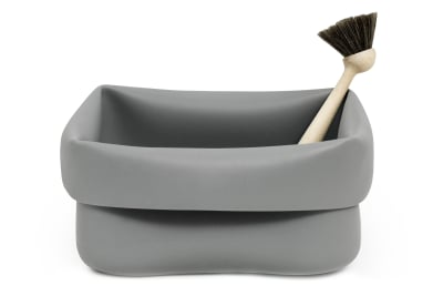 Washing-up Bowl & Brush Grey