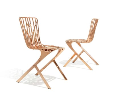 Washington Skeleton™ Aluminum Side Chair Natural Copper Plated Aluminium
