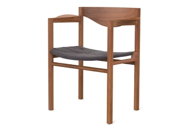 Weave Dining Chair Walnut
