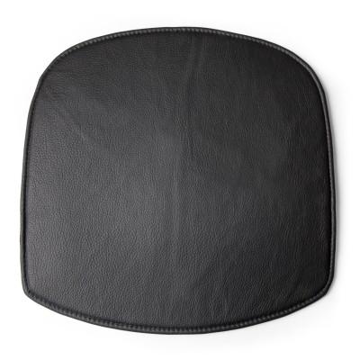 Wick Seat Cushion Black leather