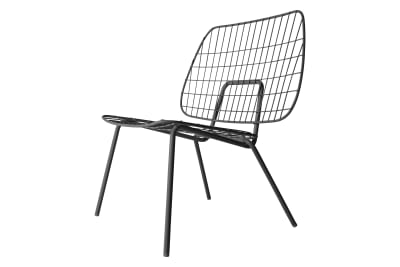 Wm String Lounge Chair Black